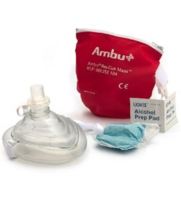 KEMP Lifeguard Ambu CPR Mask in Red Pouch