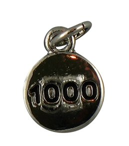 Totally Stroked 1000' Yards Silver/Black Individual Charm