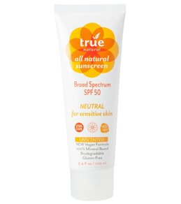 True Natural Broad Spectrum SPF 50 Sunscreen (Unscented, 3.4 oz)
