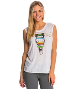 Chaser Blanket Cowskull Muscle Tee