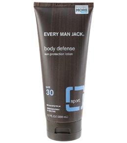 Every Man Jack Sport SPF 30 Body Defense Sun Protection Fragrance Free Lotion, 6.7oz.