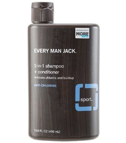 Every Man Jack Sport 2-in-1  Shampoo + Conditioner, Anti-Chlorine in Signature Mint 13.5oz