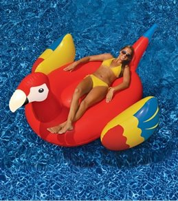 Swimline Inflatable Giant Parrot Ride-On Pool Float