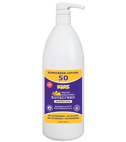 Rocky Mountain Sunscreen SPF 50 Kids Oxybenzone Free Broad Spectrum Sunscreen 32 oz.