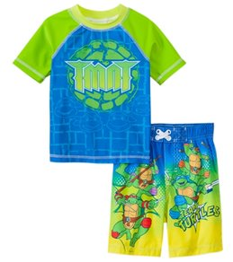 Nickelodeon Boys' Teenage Mutant Ninja Turtles Swim Trunks & Rashguard Set (2T-4T)