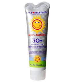 California Baby Super Sensitive Broad Spectrum SPF 30+ Sunscreen, no fragrance