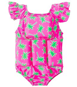 My Pool Pal Girls' Palm Tree Floatation Swimsuit