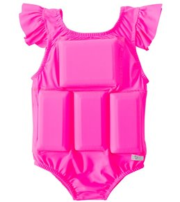 My Pool Pal Girls' Hot Pink Princess Floatation Swimsuit