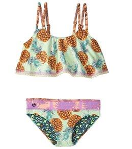 Maaji Girls' Shamrock Cream Pineapple Raffle Bikini Set (2-16)