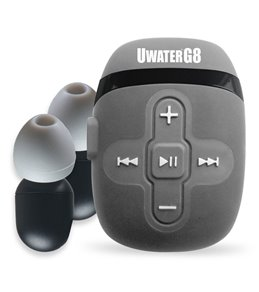 Fitness Technologies UwaterG8 8GB Waterproof Swim MP3 Player Black