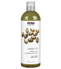NOW 100% Pure Castor Oil 16 oz