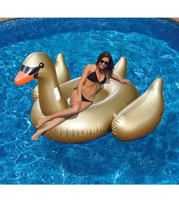 Swimline Giant Golden Goose Ride-On Lounger