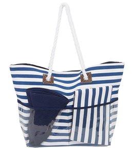 Sun N Sand Tote, Hat, Cosmetic Bag Beach Combo Set