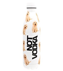 Not Vodka Retriever Puppies White 25oz. Water Bottle