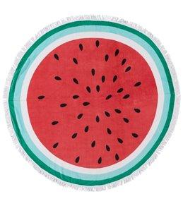 Sola Watermelon Slice Circle Beach Towel