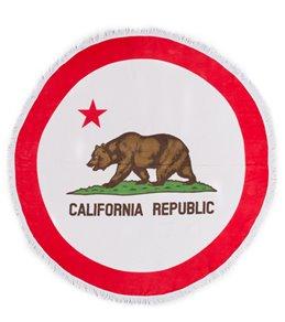 Sola California Flag Circle Beach Towel