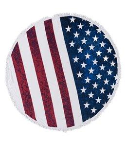 Sola American Flag Circle Beach Towel