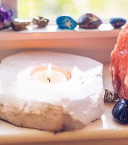 SoulMakes Quartz Slab Candle Holder