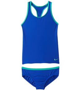 Girls' Nike Core Solid Racerback Tankini Set (Big Kid)
