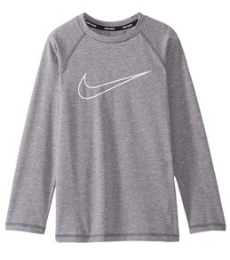 Nike Boys' Swim Long Sleeve Rash Guard (Big Kid)