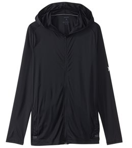 Hurley Men's Icon Quick Dry Front Zip Hooded Long Sleeve Surf Shirt