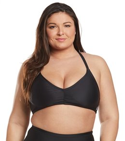 31385ef22c905 Volcom Plus Size Simply Solid V Neck Bikini Top ...
