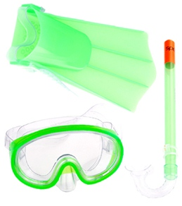 Speedo Kids Mask, Snorkel, and Fin Snorkeling Set