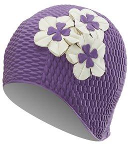 Sporti Floral Bubble Swim Cap