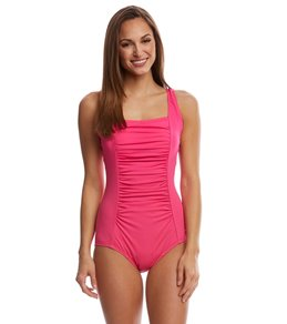 Speedo Endurance Women's Shirred Tank One Piece Swimsuit