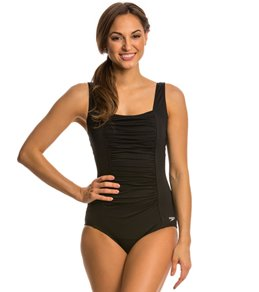 Speedo Endurance Women's Shirred Tank One Piece Swimsuit