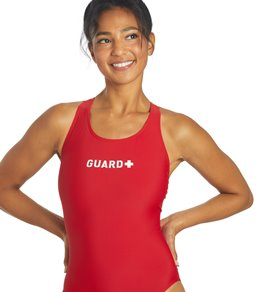Sporti Guard Solid Wide Strap One Piece Swimsuit