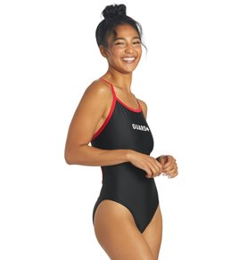 Sporti Guard Piped Thin Strap One Piece Swimsuit