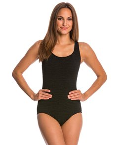 2c4648c14a Penbrooke Krinkle Chlorine Resistant Cross Back One Piece Swimsuit