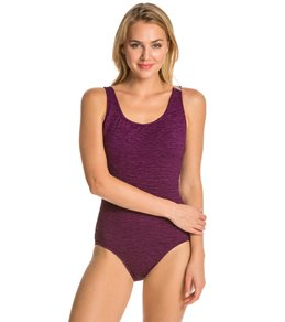 767e6102c Penbrooke Krinkle Chlorine Resistant Cross Back One Piece Swimsuit (D-Cup)