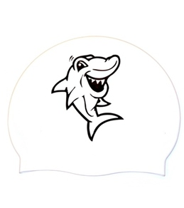 Bettertimes Sharky Solid Latex Swim Cap