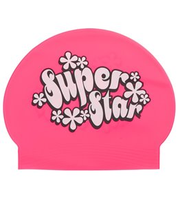 Bettertimes Superstar Solid Latex Swim Cap