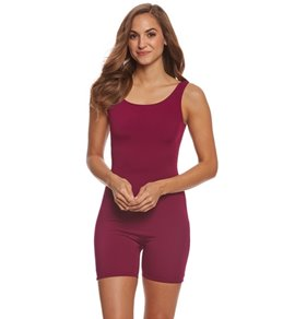 Sporti Polyester Solid Fitness One Piece Unitard