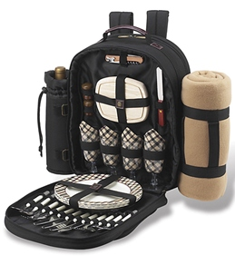 Picnic at Ascot London Picnic Backpack For Four With Blanket