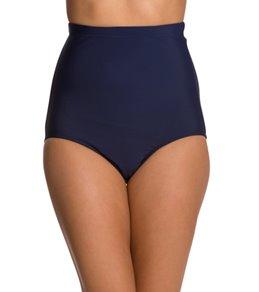 Penbrooke Swimwear Solid Ultra High Waist Pant Bikini Bottom