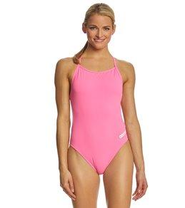 4735ba0de0 ArenaWomen s Mast MaxLife Thin Strap Open Racer Back One Piece Swimsuit