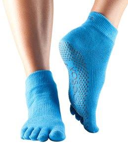 Toesox Ankle Length Full-Toe Yoga Grip Socks