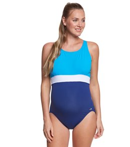 c01b310172240 EQ Swimwear Banded Maternity One Piece