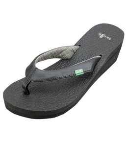 Sanuk Women's Yoga Mat Wedge Flip Flop
