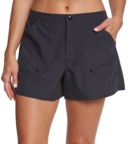 67a2683130 in Short Board Shorts. Maxine Women's Solid Woven Boardshort