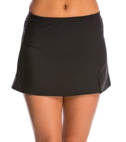 Penbrooke Solid Basic Side Slit Swim Skirt