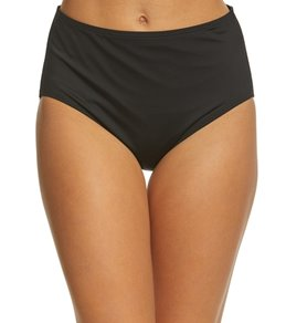 Jantzen Signature Swimwear Solid Comfort Core High Waist Bikini Bottom