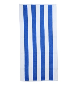 royal comfort cabana stripe terry velour beach towel 30 x 62 - Cheap Beach Towels