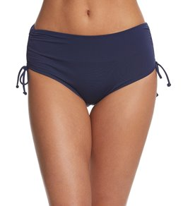 7a9ec135618a3 Beach House Solid Hayden High Waisted Adjustable Side Bikini Bottom
