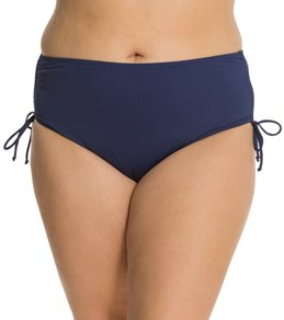 db9bf28750 Beach House Plus Size Solid Hayden High Waisted Adjustable Side Bikini  Bottom