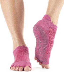 Toesox Low Rise Half-Toe Yoga Grip Socks